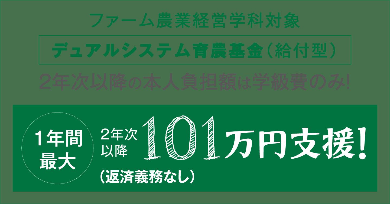 1年間101万円の支援(最長4年間)